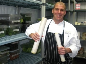 michaelfiorellimarselterranearesort 300x224 Chef Michael Fiorelli from marsel restaurant holding fresh hearts of palm