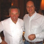 Alain Gayot with world-renowned chef, Wolfgang Puck