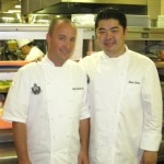 Chef Alex Chen (right) and pastry chef Jean-François Suteau