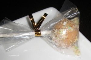 Foie gras lollipop