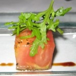 Heirloom tomate amuse bouche