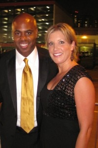 Weekend host of Entertainment Tonight Kevin Frazier with NBC Correspondent Kristen Dahlgren