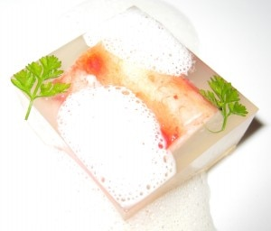 kingcrabbondstbeverlyhills 300x256 King crab in rice sushi vinegar gelée with bacon foam