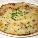 Mixed seafood with Swiss cheese gratin