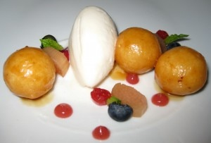 mochibondstbeverlyhills 300x203 Mochi encased in donuts and accompanied by coconut ice cream
