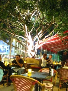 The patio at La Cachette Bistro in Santa Monica
