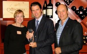 Marian Jansen op de Haar, Salvatore Ferragamo, and Alain Gayot at the Ferragamo Wine Dinner