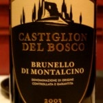 The 2003 Brunello di Montalcino from Castiglion del Bosco is produced by Salvatore Ferragamo's uncle.