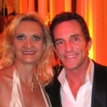 Jeff Probst, best reality host Emmy winner, with Sophie Gayot