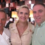 Chefs Wolfgang Puck and José Andrés with Sophie Gayot