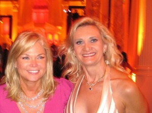 Entertainment Tonight Executive Producer Linda Bell Blue with Sophie Gayot