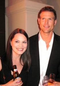 Actor Travis Stork from The Doctors with Becky Recano