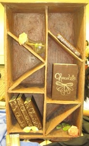 chocolatebookcasecontest 184x300 Chocolate bookcase contest entry