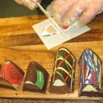 Colorful chocolate treats