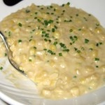 The creamed corn side dish with corn stock and butter