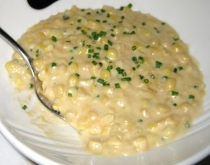 creamedcornevarestaurant 300x235 The creamed corn side dish with corn stock and butter