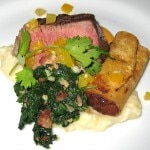Chef Dean Fearing's maple-black peppercorn soaked buffalo tenderloin