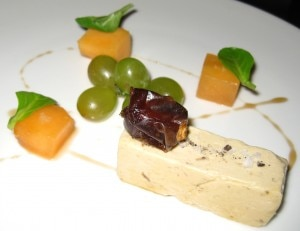 Foie gras with salted melon and maple