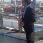 Owner of Palms Casino Resort, George Maloof, on the deck of Ghostbar