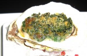Foie gras Rockefeller oysters