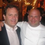 Executive chef Lee Hefter with Paul Pucino