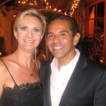 Los Angeles Mayor Antonio Villaraigosa with Sophie Gayot