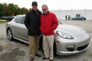 Racecar driver Hurley Haywood with Alain Gayot