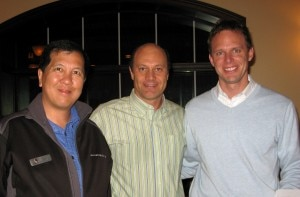 Steve Janisse and Gary Fong with Alain Gayot