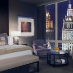 A guest room at Trump International Hotel & Tower Chicago