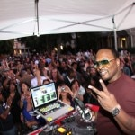 DJ Jazzy Jeff spinning at the Hornitos Block Party