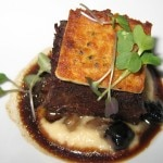 "American Wagyu short rib served ""niku jagu"" style is a Japanese version of meat and potatoes"