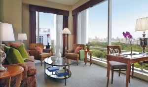 ny bedroom 300x176 A guest suite at the Trump International Hotel & Tower New York