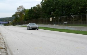 The Porsche Panamera on the Road America racetrack