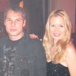 Artist Shepard Fairey with Actress Julia Alexander