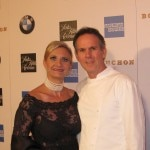 Chef Thomas Keller with Sophie Gayot on the red carpet