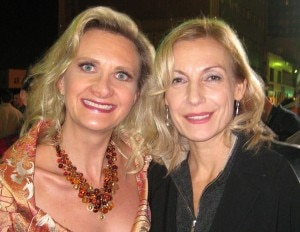 German chanteuse and actress Ute Lemper with Sophie Gayot