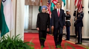 Indian Prime Minister Manmohan Singh with President Obama