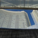 ARIA Resort & Casino skyward from Focus fountain