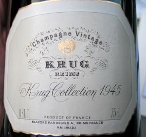 Champagne Krug vintage 1945
