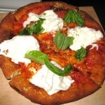 Pizzetta Napoletana with tomato, basil and burrata cheese