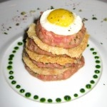 "True Japanese Wagyu beef tartare ""Potato Millefeuille"""