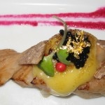 Tuna belly with toro, caviar, truffle and K-ZO's special hollandaise sauce