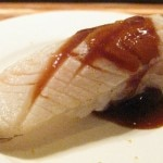 Black cod sushi lightly seared