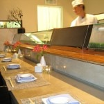 The sushi bar at K-ZO restaurant