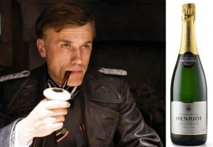 Watch Cristoph Waltz in Inglorious Basterds and enjoy a glass of Henriot NV Brut Souverain Champagne
