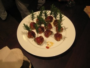 Meatballs from Farmstead Restaurant in St. Helena, California