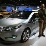 Alain Gayot with the Chevrolet Volt