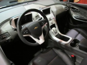 Interior view of a Chevrolet Volt