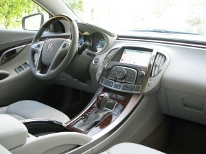 Interior of a Buick LaCrosse