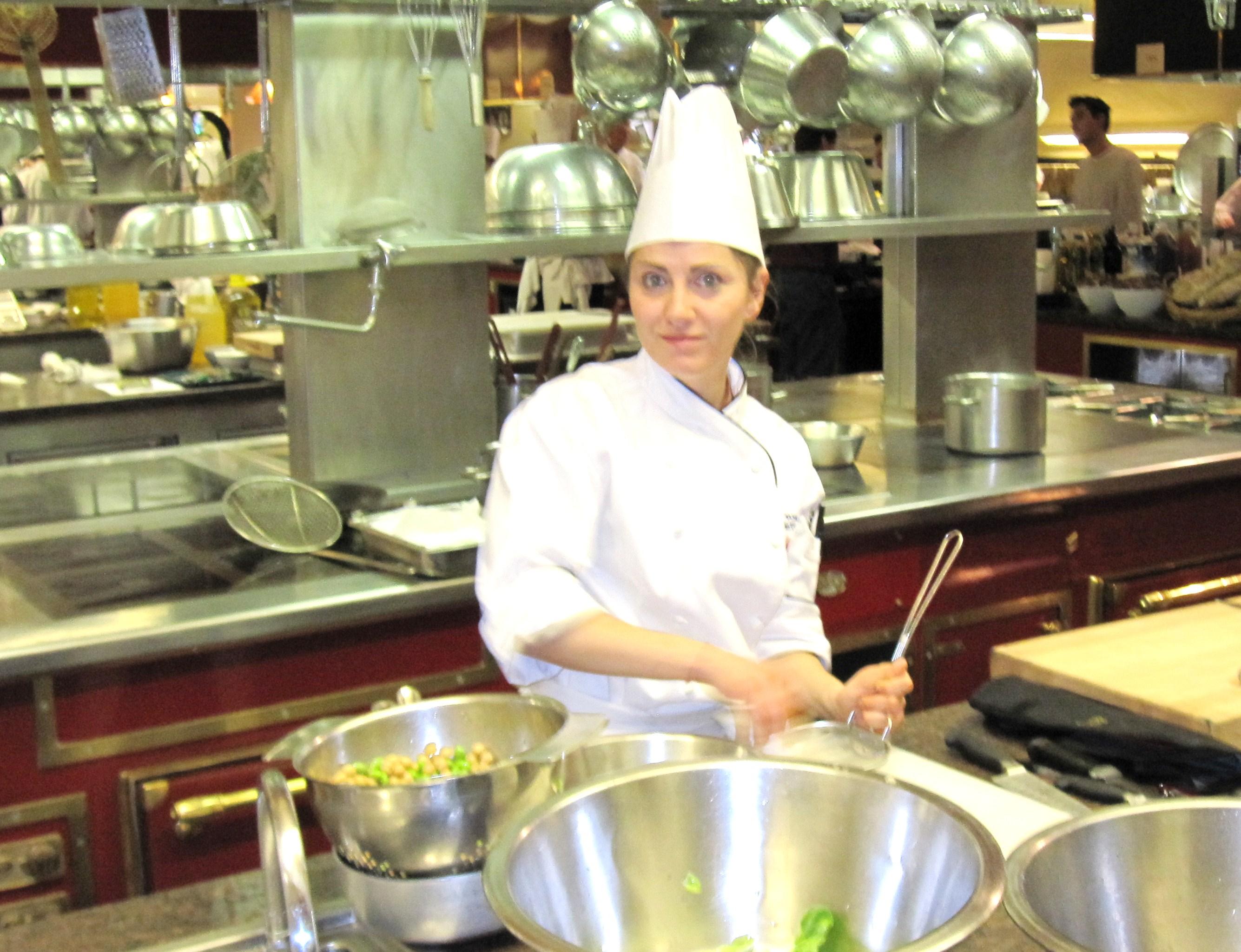 Laura Torresin in the kitchen